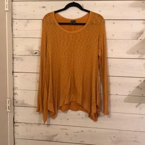 Mustard Anthropologie sweater/top